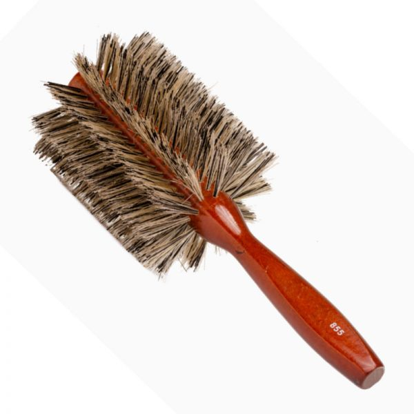 Long Boar Bristle Round Brush